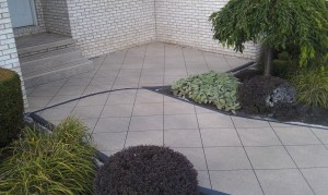 Polymer, decorative concrete decorative patio-concrete boarders-tiled patio